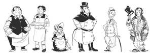Victorian character sketches by wredwrat
