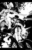 Raido vs the undead army by wredwrat
