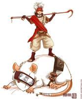 Rat Nin Akazumi by wredwrat
