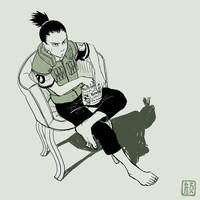 Lazy nin Shikamaru by wredwrat