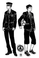 Megaten schoolboys by wredwrat