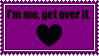 I'm me, get over it stamp by LadyNatt