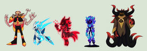 Sonic Character Redesigns - Villains by Storm-Sketch