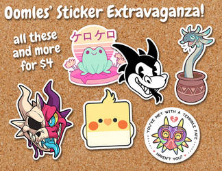 Bunch O' Stickers For Sale! by Oomles