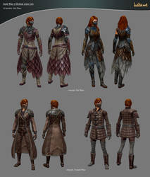 Guild Wars 2 Medium Armor Sets by haikai13
