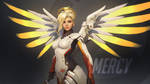 Overwatch Wallpaper: Mercy by haikai13