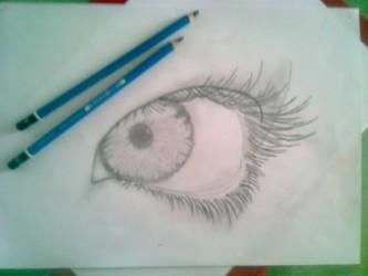 first EYE drawing by Heauton-timorumenos