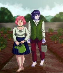 Eara and Ayne at 18 by Ekkusuinetto