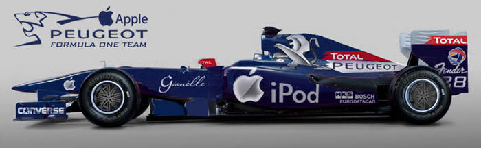 Peugeot Apple F1 2010 by Borreaux