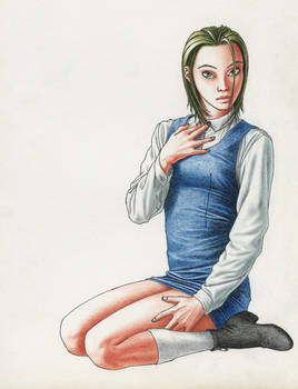 School girl by cretaceo