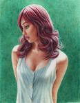 Watercolor girl by cretaceo