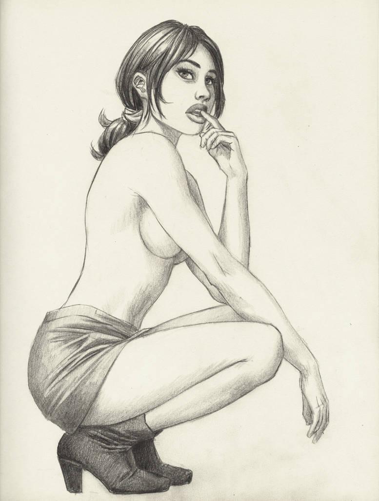 Sexy sketch by cretaceo