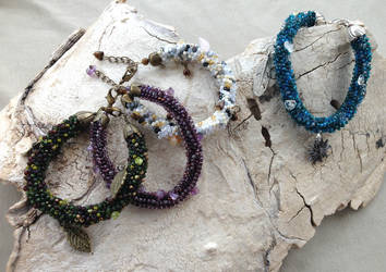 Moss bracelets (preorder) by DeathMystery