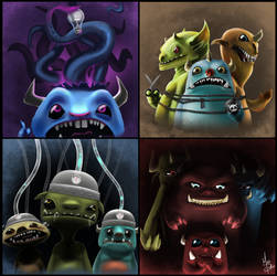 Lil' Monsters by MattDeMino