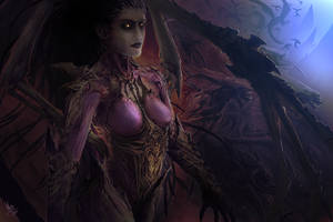 Sarah Kerrigan - The Queen of Blades by MattDeMino