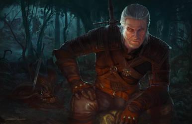 The Path - Witcher 3 Fan art by MattDeMino