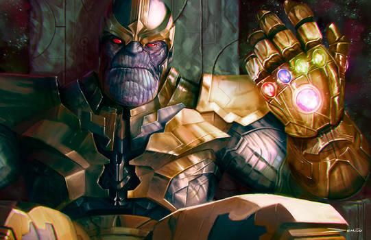 Thanos: The Infinity Gauntlet by MattDeMino