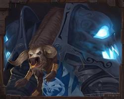 Blizzcon Badge - Tauren Warrior by MattDeMino