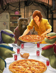 Happy TMNT Thanksgiving! by MattDeMino