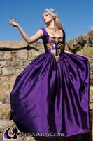 Purple Princess Gown by DaisyViktoria