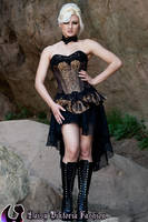 Black and Copper Corset Outfit by DaisyViktoria