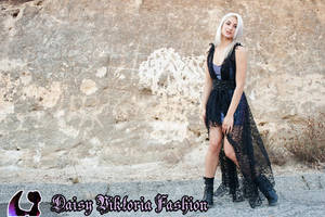 Lacey Draped Gown by DaisyViktoria