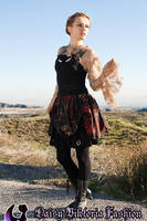 Skirt With Tattered Top and Lace Shrug by DaisyViktoria