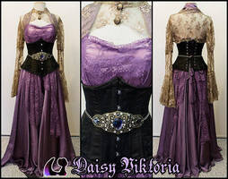 Purple Chiffon and Lace Elf Princess Gown by DaisyViktoria