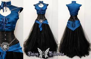 Black Sapphire Elf Princess Gown by DaisyViktoria