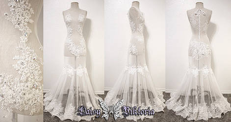 White Lace Majesty Gown by DaisyViktoria