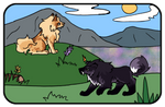 Spring Exploration - Autumn and Aegon by Dunrosiel
