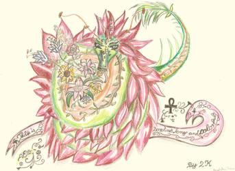 Flower Dragon by Draco-Bellatrix