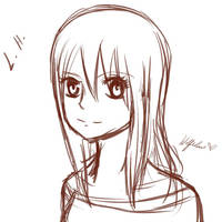 Lucy Heartfilia sketch by WolfieANNE