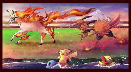 Collab: The Flame Pokemon-Athon by Unibat