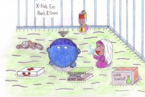 X-Kids Evo: Hank n Ororo by Fuzzyelf