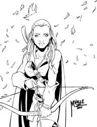 Shelby Elf Commission Ink by MJValle