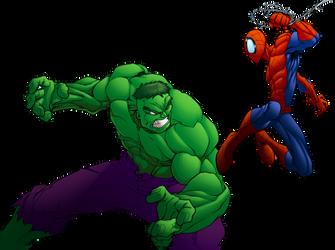 Hulk vs Spidey Colors by MJValle