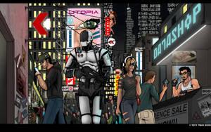 Sci-Fi street walk by Terraldo