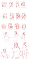 Character studies by DrunkenFangschrecke
