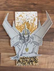 Starscream Gold Commission by DrunkenFangschrecke