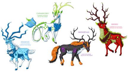 fakemon Legendary Deer 2 by Athena-Tivnan