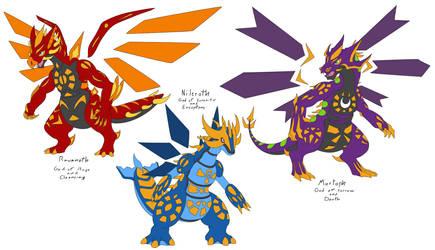 fakemon Legendary Dragons by Athena-Tivnan