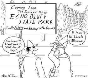 Echo Bluff State Park Cartoon by Athena-Tivnan