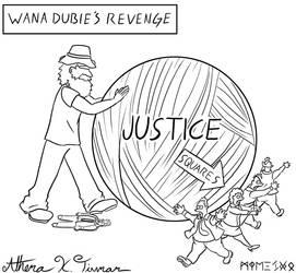 Editorial Cartoon, Chief Wana Dubie's Hemp ball by Athena-Tivnan