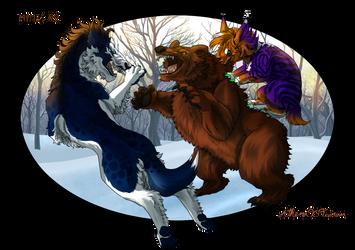 Charlemagnes and Salem hunting 2 by Athena-Tivnan