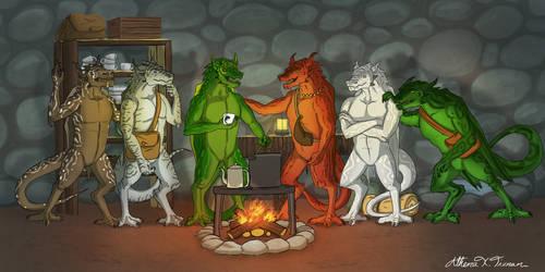 NewEarth Concept: 5 dragons by Athena-Tivnan