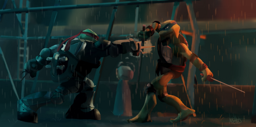 Leo VS Raph UPDATED ver by H0TMILKY