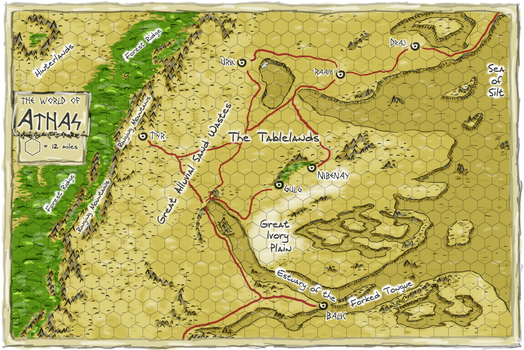 Athas World Map.Dark Sun Athas Map By Whodrewthis On Deviantart