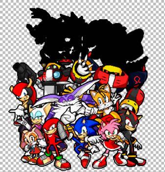 Sonic Advance Pixel Art (W.I.P) by DjProhawk