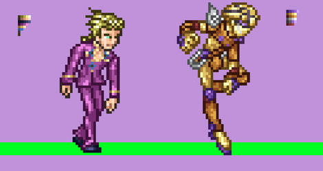 Giorno Giovanna And Gold Experience Sprite by DjProhawk